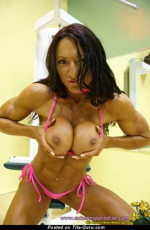Image. Nude hot lady with fake breast image