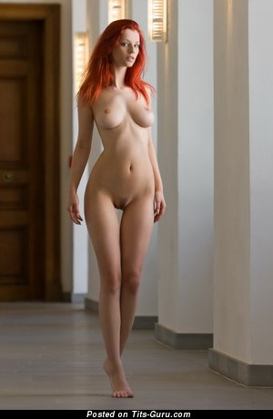 Image. Nude beautiful female with medium natural breast picture