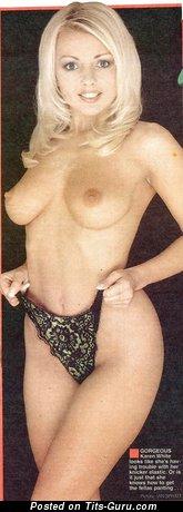 Изображение. Karen White - фотография офигенной голой леди с средними натуральными сиськами ретро