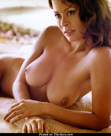 Brooke Burke - Marvelous American Brunette with Marvelous Bald Medium Titties (Porn Image)