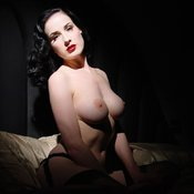 Dita Von Teese - amazing woman with medium natural boobies image