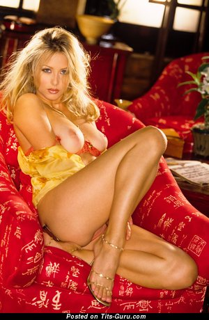 Image. Naked blonde with big tittes image