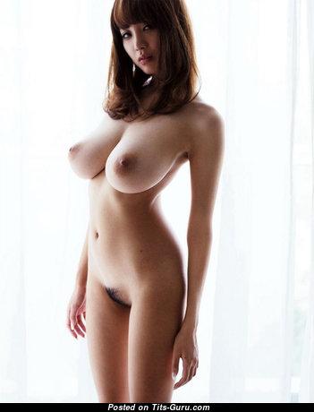 Shion Utsunomiya - Cute Glamour Japanese Brunette Pornstar with Cute Bare Natural Normal Titties (18+ Pic)