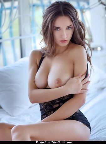 Sexy nude wonderful woman with medium natural breast pic