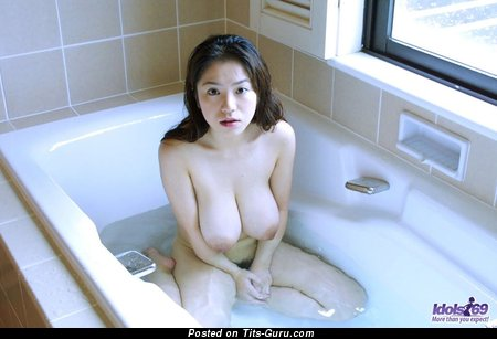 Anna Ohura - The Best Japanese Bimbo with The Best Bare Real Big Knockers (Sexual Image)