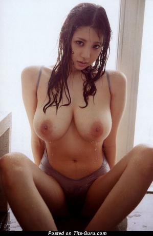 Shion Utsunomiya - Amazing Wet & Topless Japanese Brunette Pornstar with Amazing Bare Real Medium Sized Boobie & Puffy Nipples in Panties (Hd Sex Photoshoot)