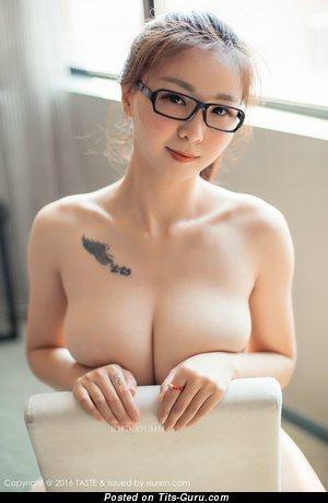 Nude asian with big tittes and tattoo pic