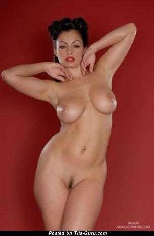 Aria Giovanni - nude latina with medium natural boob picture
