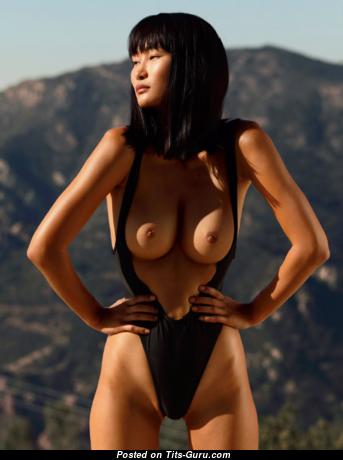 Miki Hamano - Hot Asian Playboy Woman with Hot Defenseless Natural D Size Tits (Porn Photo)