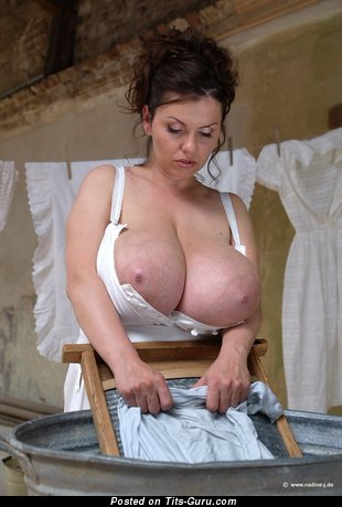 Milena Velba - Cute Czech Skirt with Cute Exposed Real Monster Knockers (Sexual Foto)
