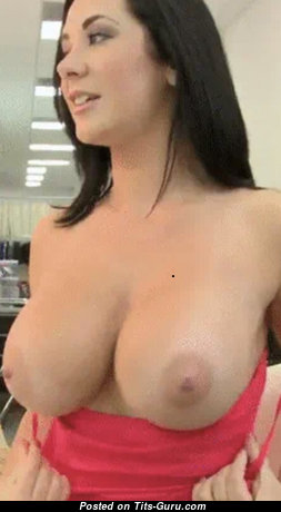 Beautiful Brunette Babe with Beautiful Defenseless Natural Boobies is Undressing (Hd 18+ Picture)