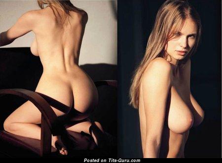 Karolina Szymczak - Charming Polish Brunette Babe with Charming Nude Real C Size Tits (Xxx Wallpaper)