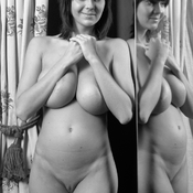 Amazing woman with huge natural breast vintage