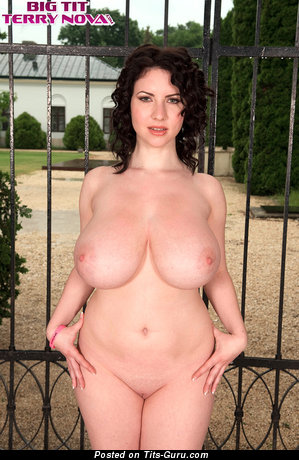 Image. Karina Hart - sexy naked brunette with big natural tittys image
