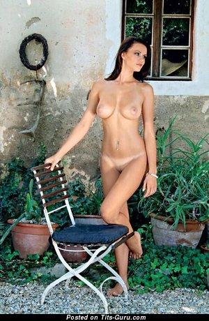 Manja Dobrilovič - nude red hair with medium natural breast photo