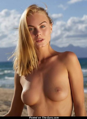Naked awesome lady with natural tits image