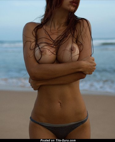 Image. Viki Odintcova - naked brunette with medium tots image