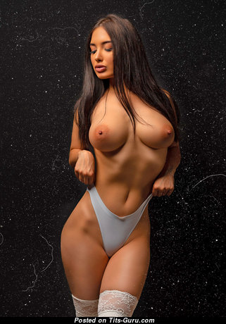 Alina Gorokhova - Handsome Topless Asian Brunette with Handsome Nude D Size Tittys (Hd 18+ Picture)