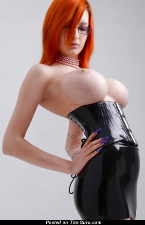 Ariane Saint Amour - Lovely Canadian Red Hair with Lovely Exposed Round Fake Big Sized Tittes (Hd Sexual Photo)