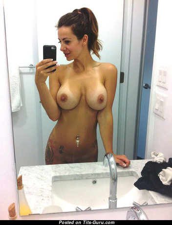 Adorable Topless Brunette Babe with Adorable Bald Natural C Size Boobies (Private Selfie Xxx Wallpaper)