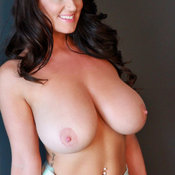 Beautiful female with huge natural breast photo
