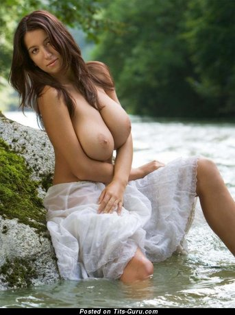 Image. Nude nice female with huge natural breast photo