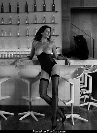 Sexy naked wonderful woman with medium tits photo