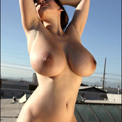 Sexy nude brunette with big natural tittys picture