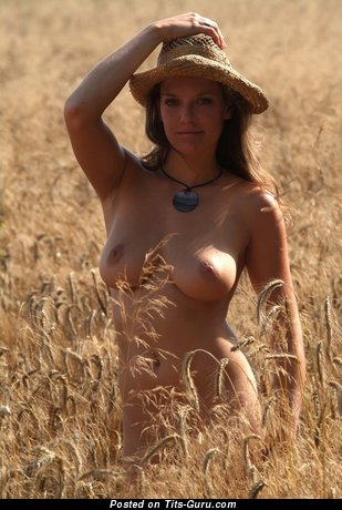 Image. Nude nice female with big natural breast image