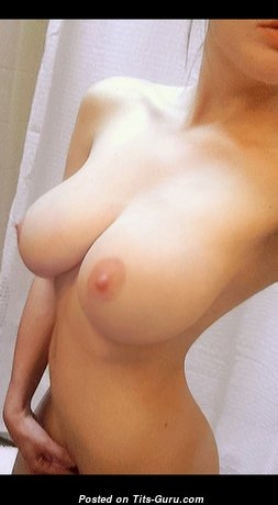 Pleasing Babe & Nerd with Pleasing Bald Natural Hooters & Pointy Nipples (Hd Sex Photo)