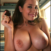 Erica Campbell - sexy hot girl with medium natural boobs and big nipples photo