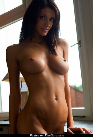 Claudia O - Appealing Brunette Babe with Appealing Nude Real C Size Hooters (Hd Xxx Photo)