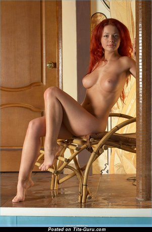 Adorable Red Hair with Adorable Defenseless Substantial Tittes (Hd Xxx Pic)