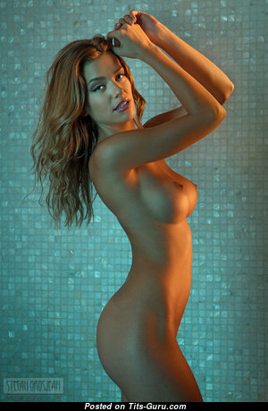 Anjou - Yummy Brunette Babe with Yummy Bare D Size Tit in the Shower (Hd 18+ Wallpaper)