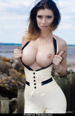 Lilly Roma - Splendid Romanian Brunette Babe with Splendid Bare Normal Melons (Hd 18+ Pix)