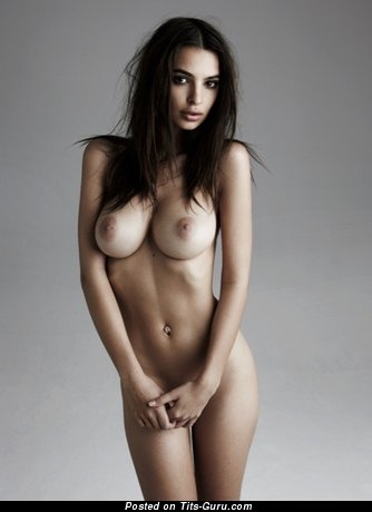 Image. Emily Ratajkowski - sexy naked brunette with medium natural tits picture