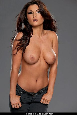 Nude amazing lady with medium natural tots image