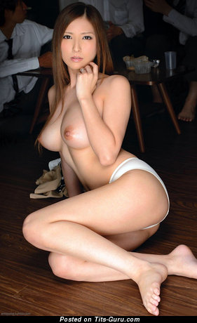 Image. Sexy nude asian brunette with medium tots pic