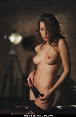 Olga Alberti - nude beautiful girl with medium natural tittys photo