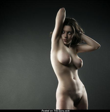 Image. Tania Kliukvina - nude beautiful woman with medium natural tits photo