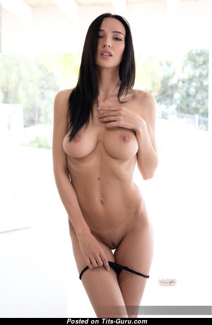 Anastasya B - The Best Topless & Glamour Brunette Pornstar with The Best Exposed Mid Size Titties, Pointy Nipples, Sexy Legs (Hd Sexual Foto)