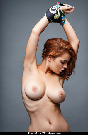 Elegant Red Hair Babe with Elegant Nude Natural Tight Hooters (Porn Image)