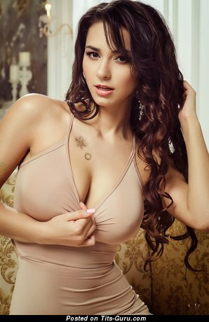 Image. Helga Lovekaty - sexy nude nice female with medium natural tots image