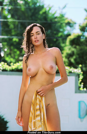 Sarah Stephens - Pretty Australian Brunette with Marvelous Open Real Soft Titty (Hd Porn Photo)