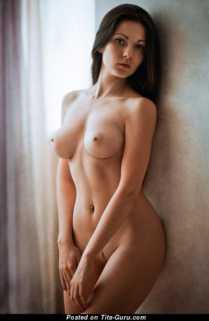 Image. Naked wonderful girl with medium breast image