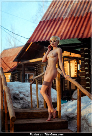 Image. Nude hot female with natural breast pic
