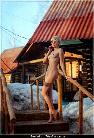 Image. Naked wonderful lady with natural boobies image