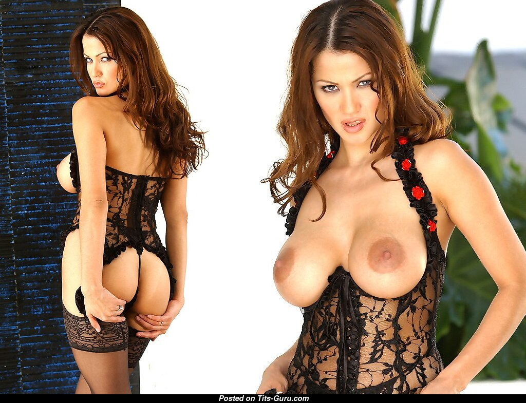 alley baggett - nude brunette with big tots and big nipples image