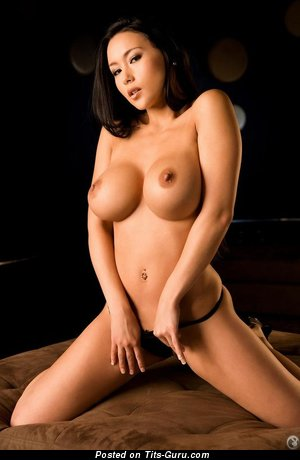 Image. Julri Waters - naked asian brunette with big fake tits pic