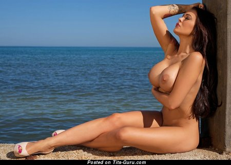 Image. Charley Atwell - sexy topless brunette with big tittes and big nipples photo